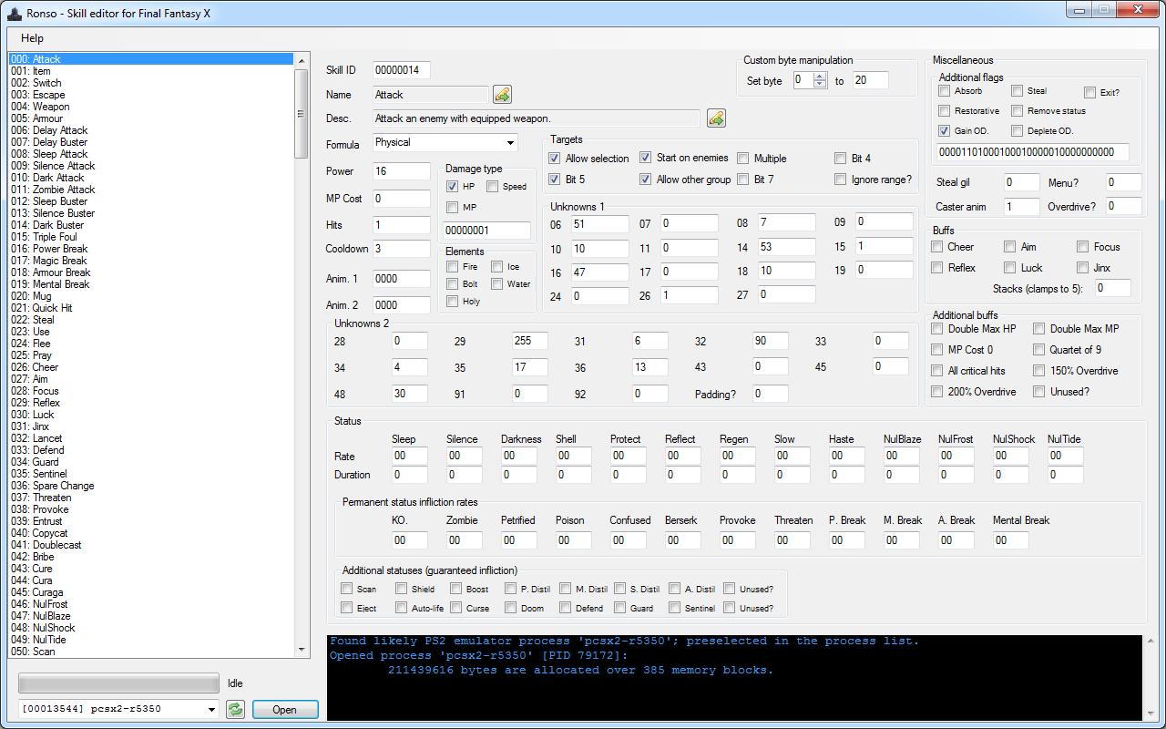 FFX] Skill editor - Ronso (v0 3 1 0)